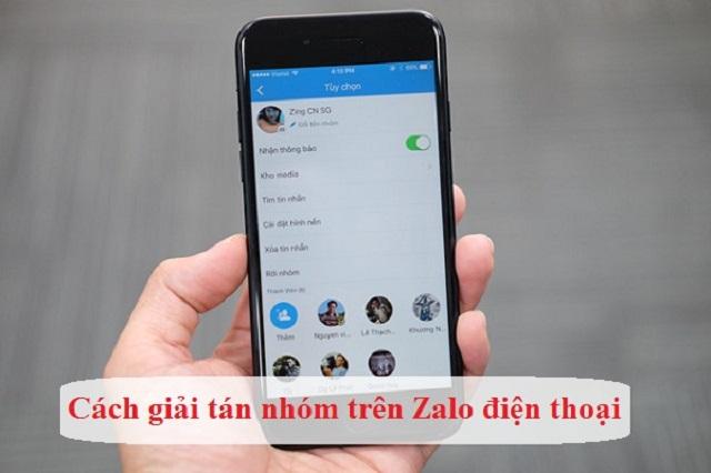 Cách giải tán nhóm Zalo trên điện thoại đơn giản