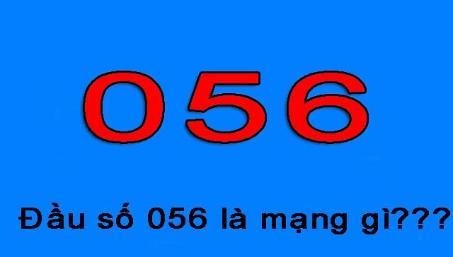 Đầu số 056 thuộc nhà mạng Vietnammobile