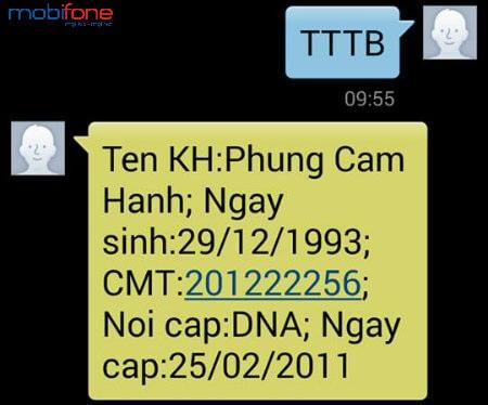 Sử dụng cú pháp TTTB gửi 1414 để thực hiện tra cứu